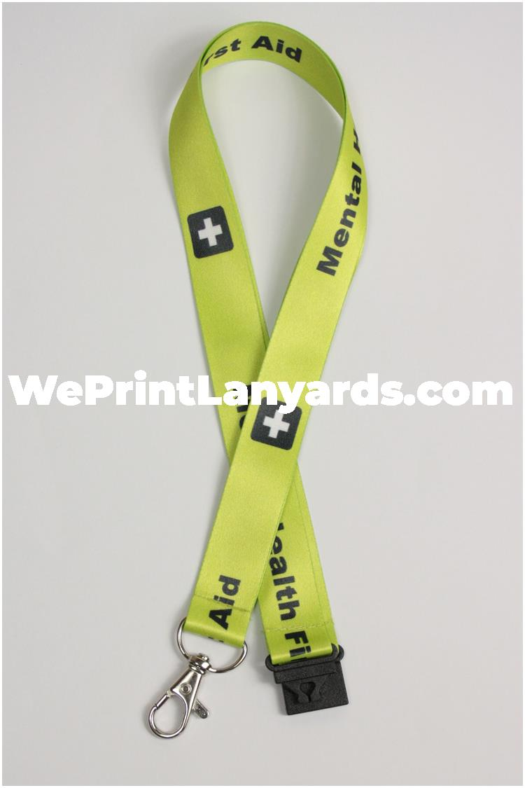 Bespoke printed lanyard for hospital staff