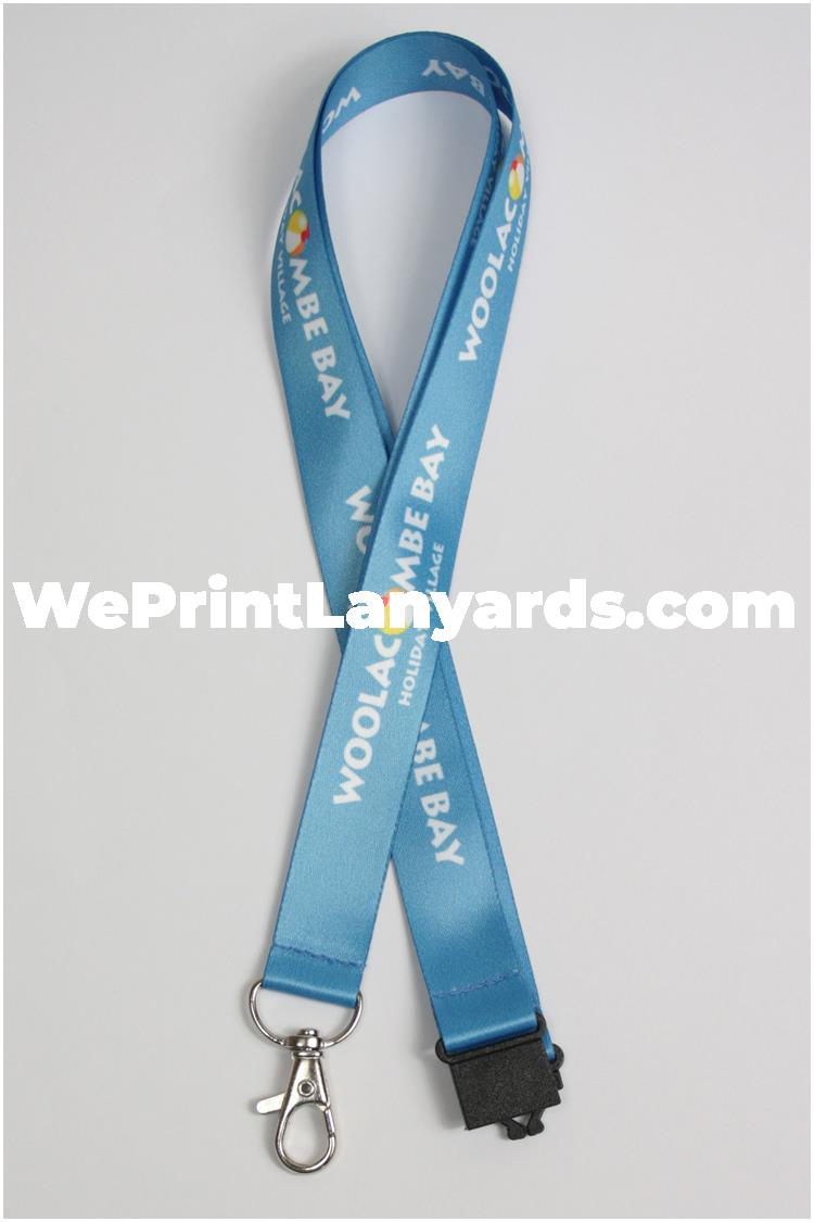 holiday tourism blue logo printed camping lanyard