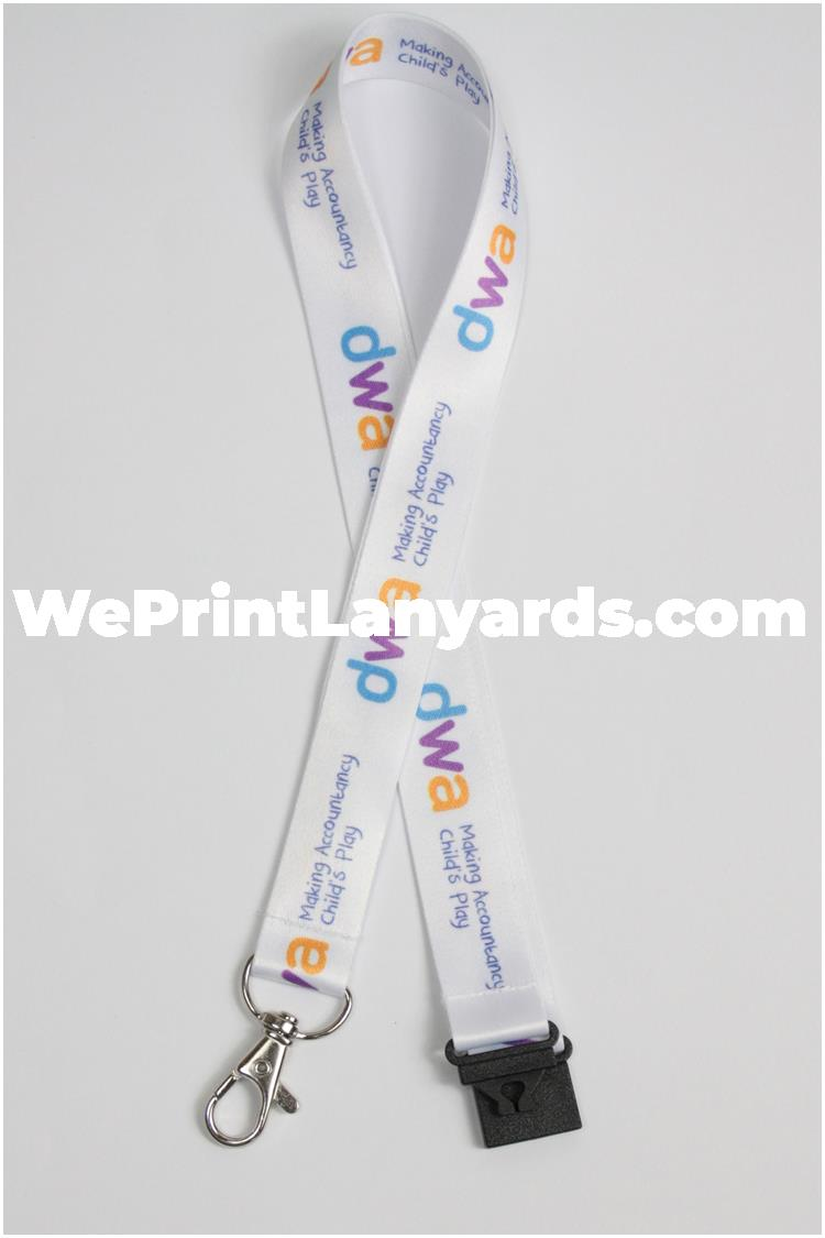 Logo printed finance banking lanyard