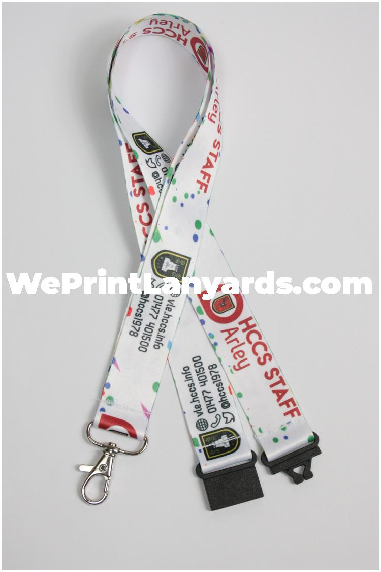 White spotty school lanyard