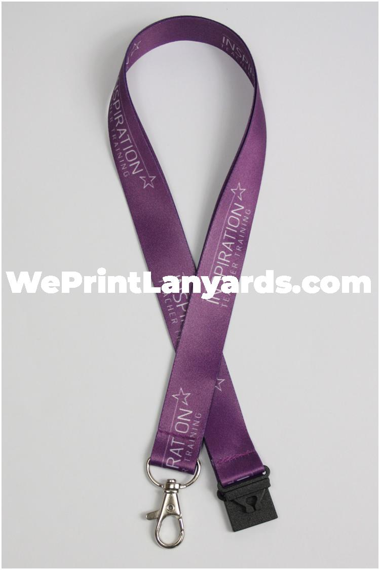 Purple logo school academy lanyards