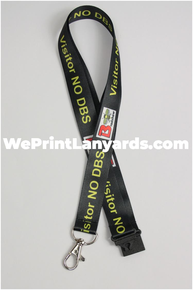 Custom school visitor DBS bespoke lanyards