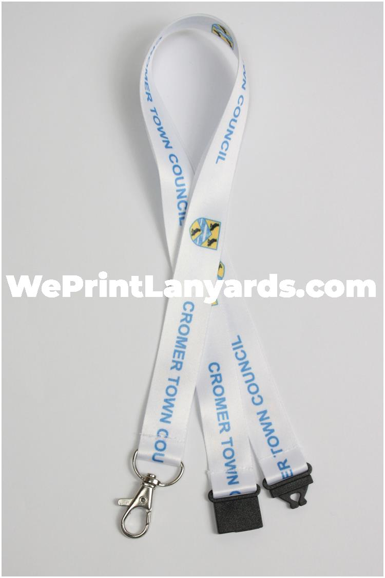 Bespoke printed council government department lanyard