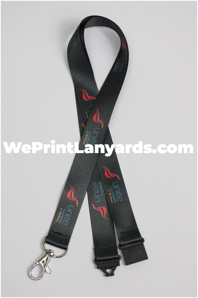 Black branded logo lanyard