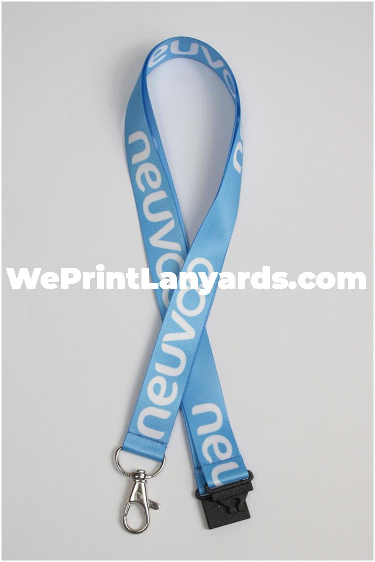 Light blue business logo lanyard