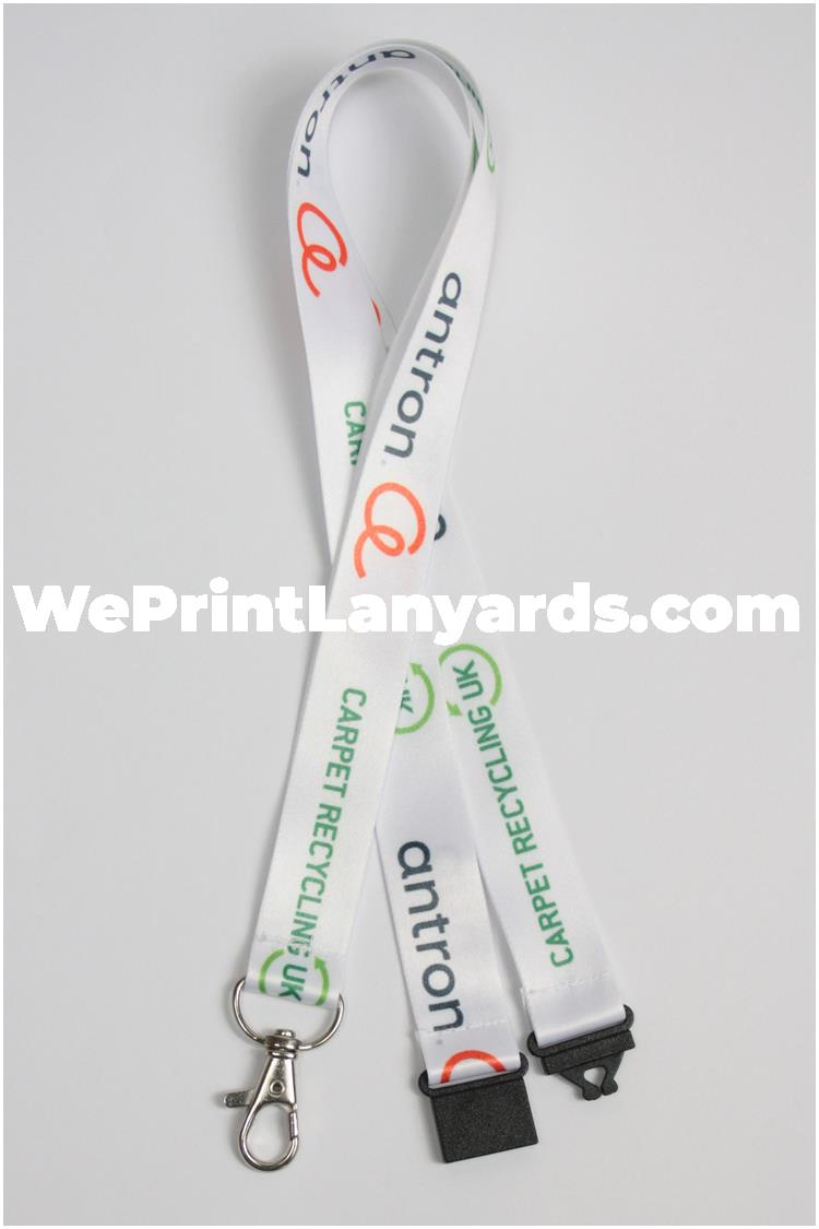 Custom printed lanyard with company branding