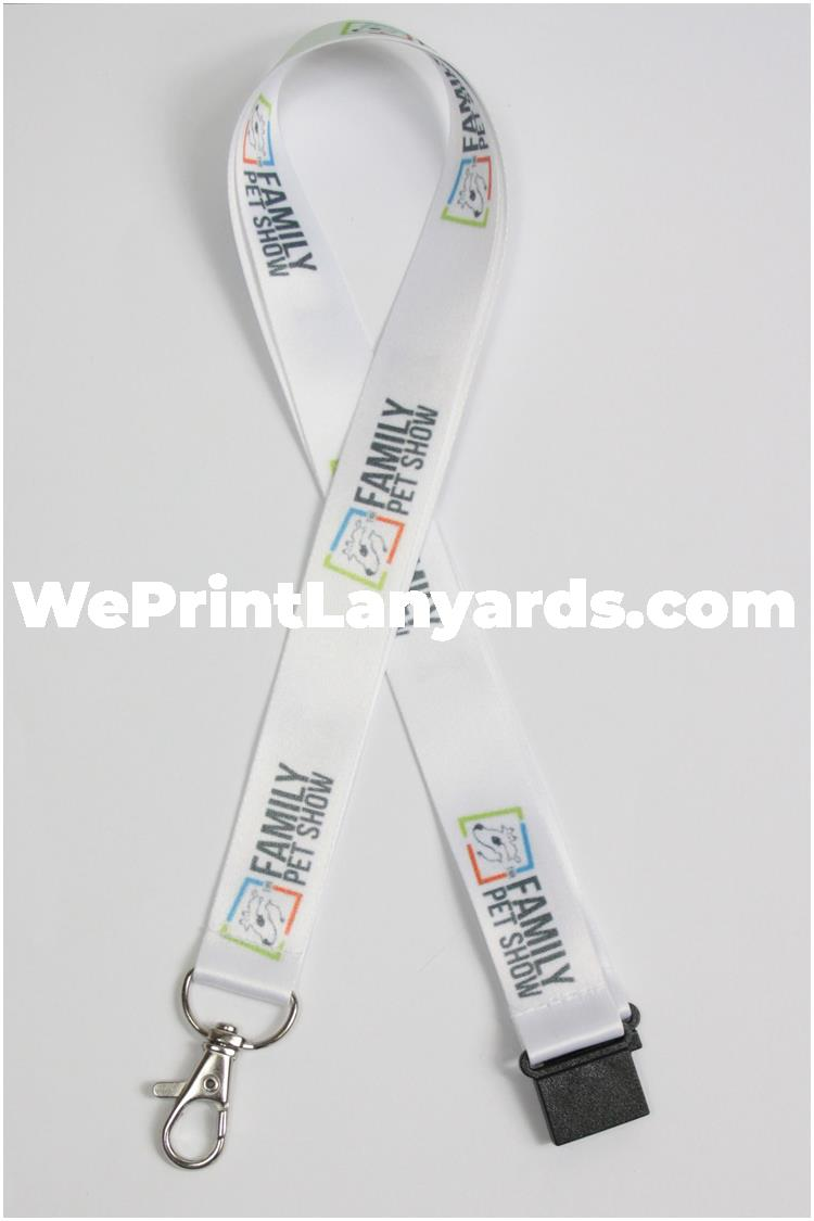 Family pet show logo printed lanyard