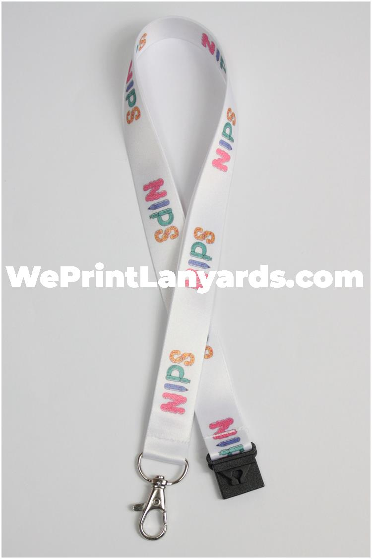 Custom printed event logo lanyard