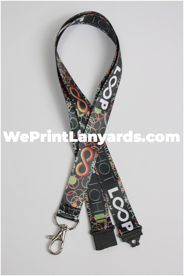 Full colour printed promotional event lanyard