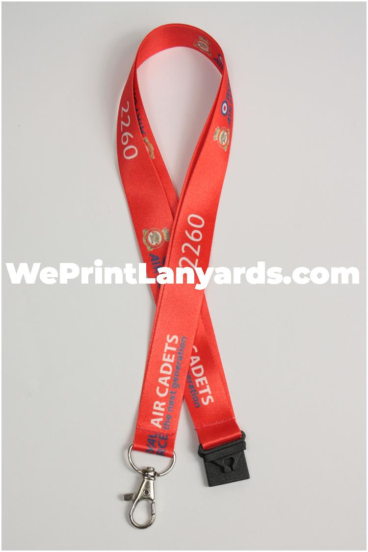 red security forces sequentially numbered custom printed lanyard